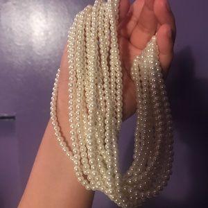 Faux pearl chocker!
